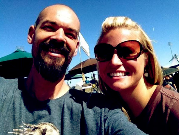 Image of Aaron Goodwin with his ex-wife Sheena Goodwin.