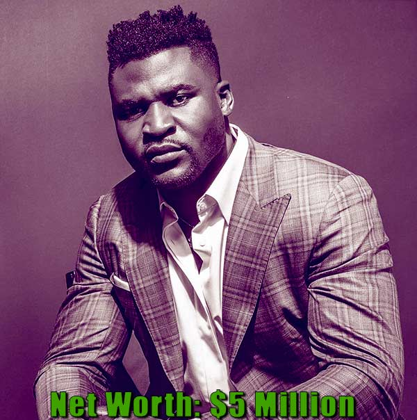 Image of Mixed Martial Artist, Francis Ngannou net worth is $5 million
