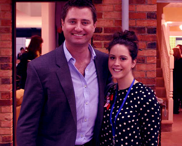 Image of George Clarke with his ex-wife Catriona Drummond,