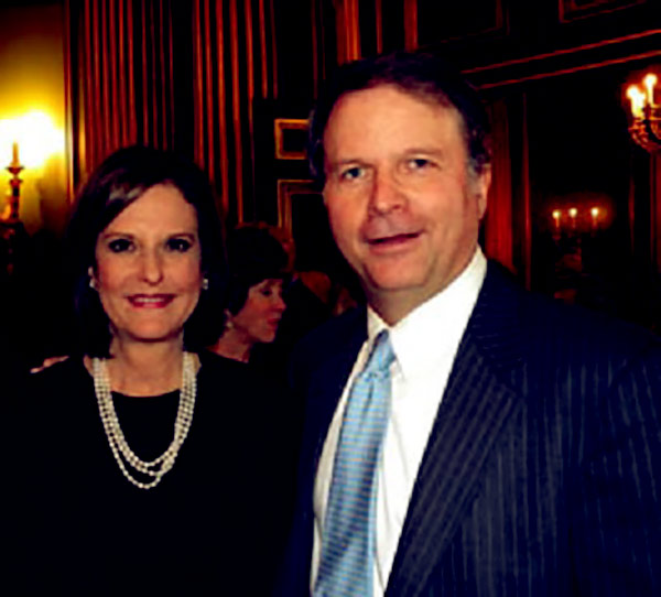 Image of Gloria Borger with her husband Lance Morgan