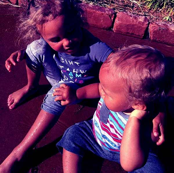 Image of Jennifer Pfautch kids daughter Nova and a son Brave