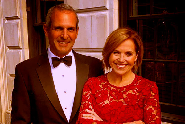 Image of Katie Couric with her husband John Molner