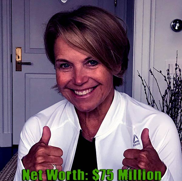 Image of American Journalist, Katie Couric net worth is $75 million