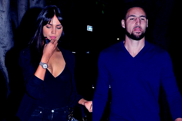 Image of Klay spotted with an actress, Eiza Gonzalez