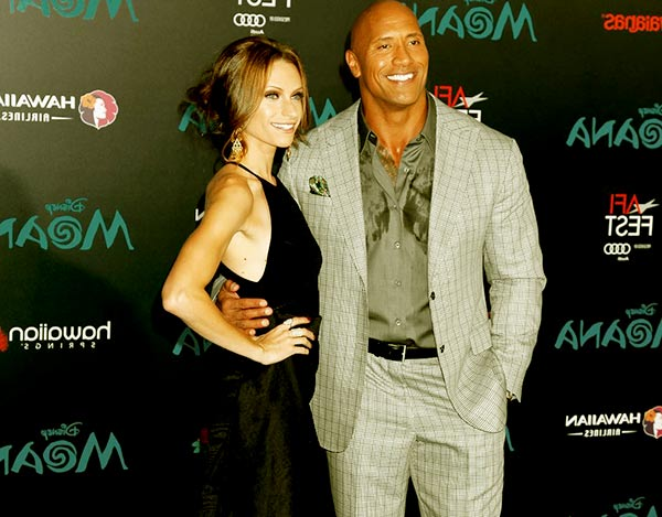 Image of Lauren Hanshian with her husband Dwayne Johnson AKA The Rock