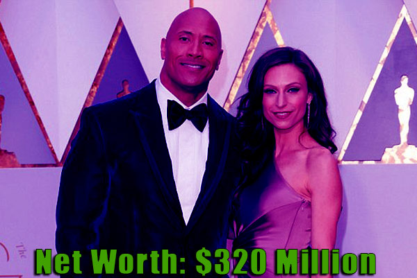Image of Lauren Hanshian husband Dwayne Johnson net worth is $320 million