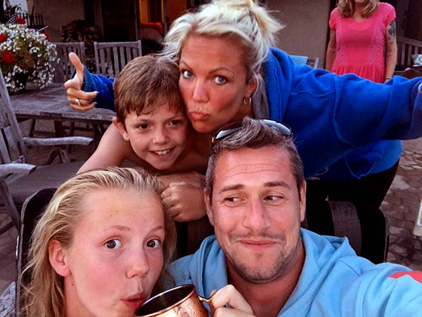 Image of Louise Anstead with her husband Ant Anstead and with her kids Amelie (daughter) and Archie Anstead (son)