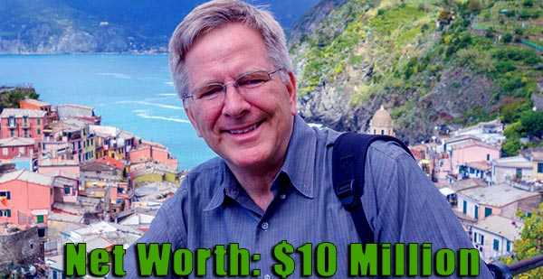 Image of American travel writer, Rick Steves net worth is $10 million