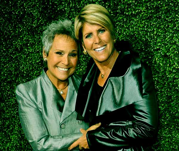 Image of Suze Orman with her husband Kathy Travis