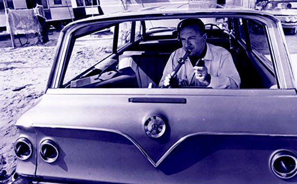 Image of Radio Personality, Walter Cronkite with his car