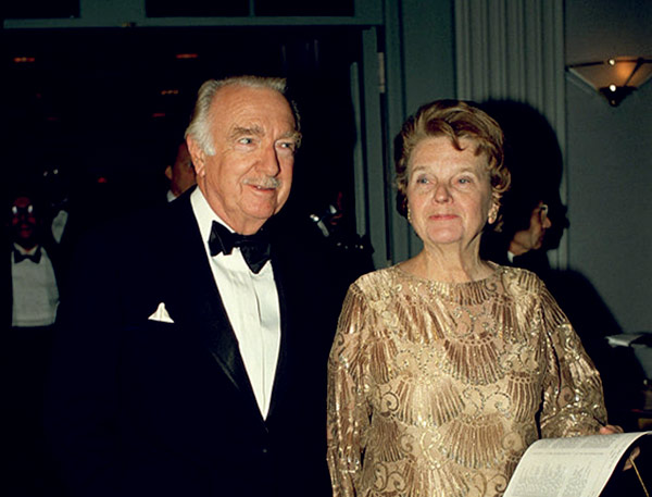 Image of Walter Cronkite with his wife Mary Elizabeth Maxwell