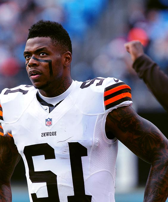 Image of American football wide receiver, Josh Gordon