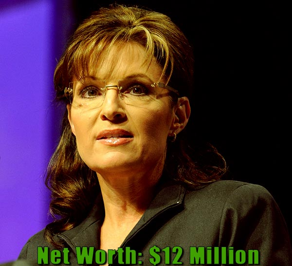 Image of Politician, Sarah Palin net worth is $12 million