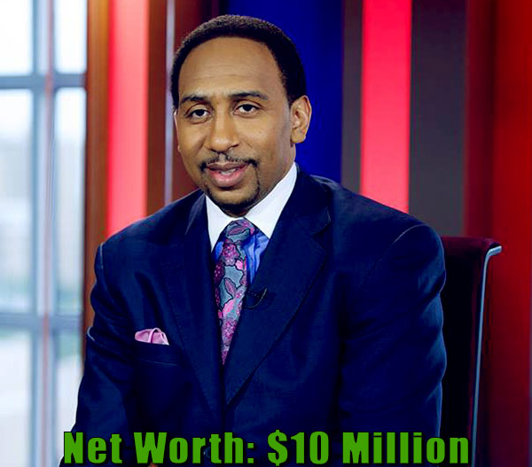 Image of American TV Personality, Stephen A. Smith net worth is $10 million