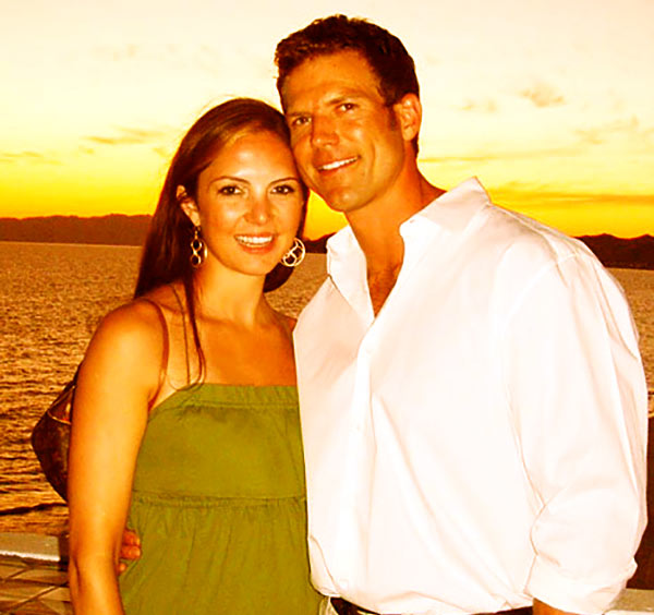Image of Travis Stork with his first wife Dr. Charlotte Brown