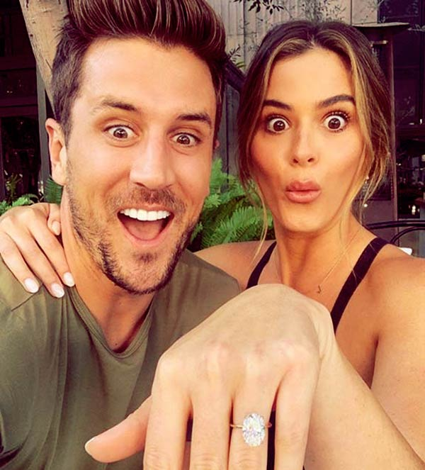 Image of JoJo Fletcher partner Jordan Rodgers, proposed her with a massive diamond ring